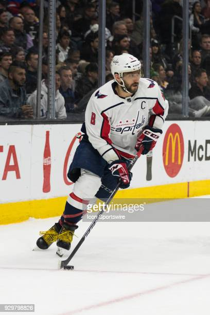 Washington Capitals left wing Alex Ovechkin during the NHL regular season game during the Los Angeles Kings game versus the Washington Capitals on...