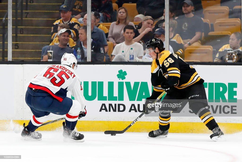 NHL: SEP 16 Preseason - Capitals at Bruins : News Photo