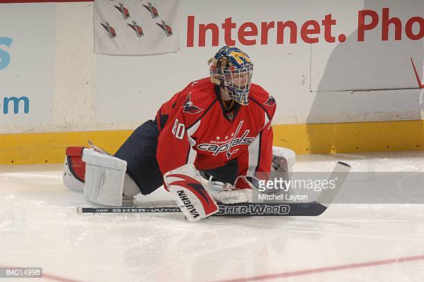 Washington Capitals website producer Brett Leonhardt was signed to an amateur tryout contract and warmed up before a NHL hockey game against the...