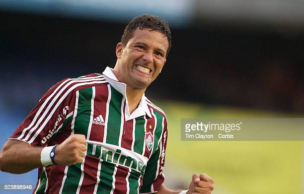 Washington celebrates after scoring the second goal for Fluminense in their 3-0 win over Internacional during the Futebol Brasileiro Campeonato...