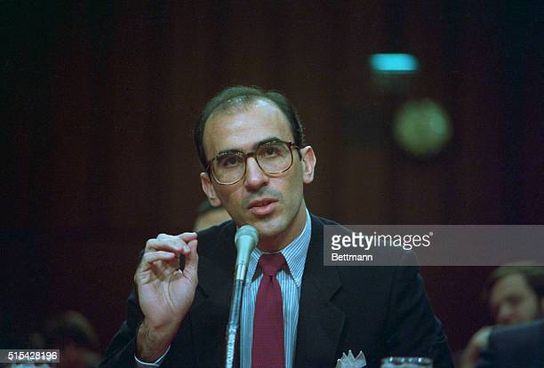 Convicted Cubanborn money launderer Ramon Milian Rodriguez appears before a Senate panel investigating Panamanian leader Manuel Noriega February 11th...