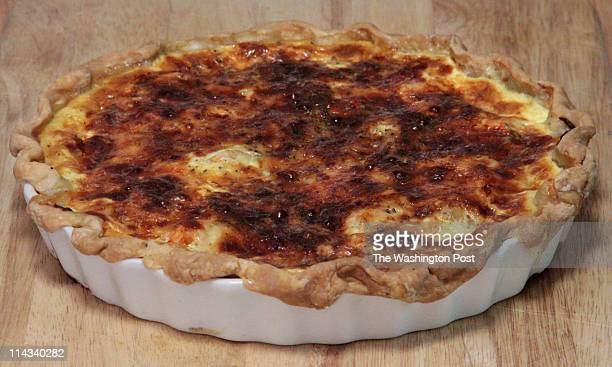 MAY 8 2011 Washington Cooks feature on Decoyise Brown the finished seafood quiche