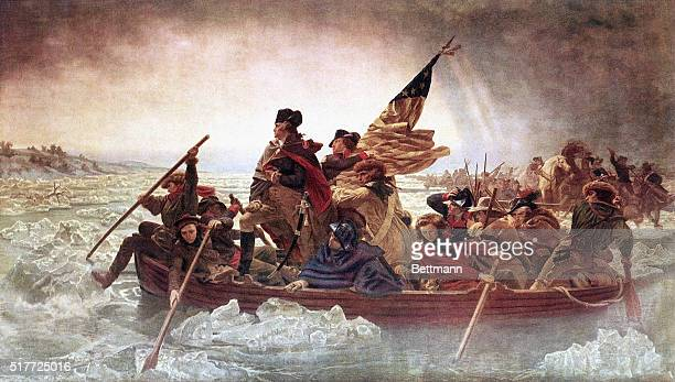 Washington Crossing the Delaware oil on canvas painted by Emanuel Leutze Color slide BPA2# 5892