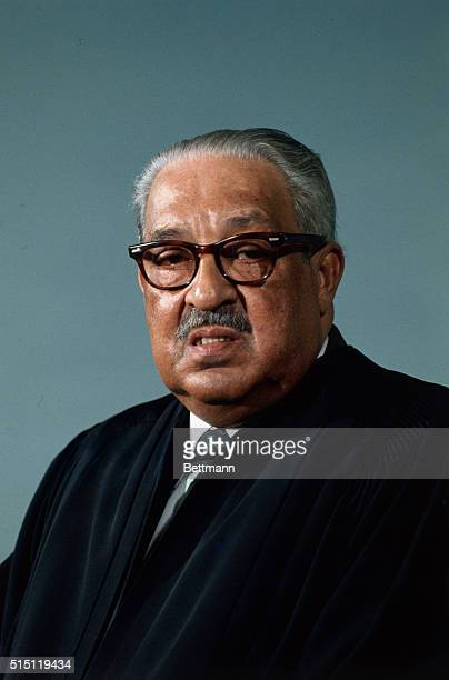 Washington, D. C.: Associate Justice Thurgood Marshall of the Supreme Court of the United States is pictured February 5th.