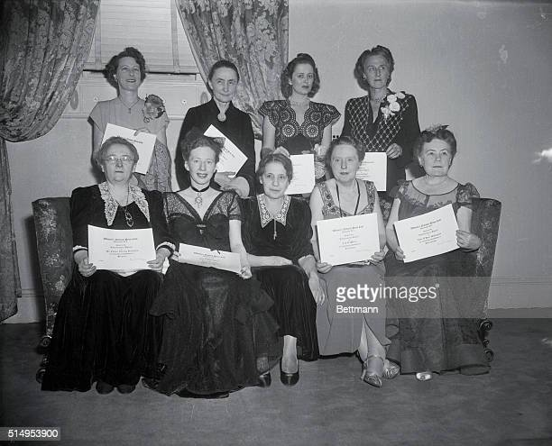 The Women's National press Club named ten women today in as many fields of endeavor as outstanding and makers and promoters of progress in 1945 They...