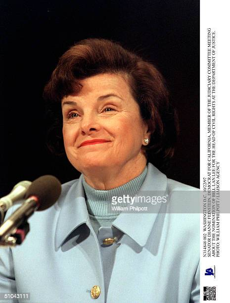 Washington DC 10/22/97 Senator Dianne Feinstein Democrat For California Member Of The Judiciary Committee Meeting About The Nomination Of Bill Lan...