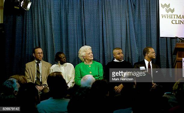 "Washington, DC. Calling AIDS ""a tragedy that affects us all,"" Barbara Bush yesterday helped dedicate a new Washington haven for those afflicted with..."