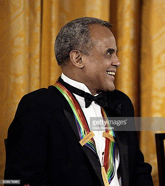 Washington DC 1231989 Singer Harry Belafonte one of this years Kennedy Center Honorees laughs at a joke made by First Lady Barbara Bush during the...
