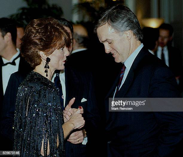 Washington DC 1992 Kate Michelman Ron Silvers and Senator Robert Kerrey at the WHCA Dinner For nearly 20 years Michelman served as president of NARAL...