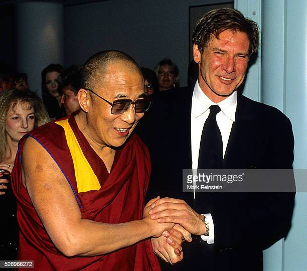 Washington DC 1993 The Dalai Lama with Harrison Ford in Washington DC Harrison Ford is an American film actor and producer He is famous for his...