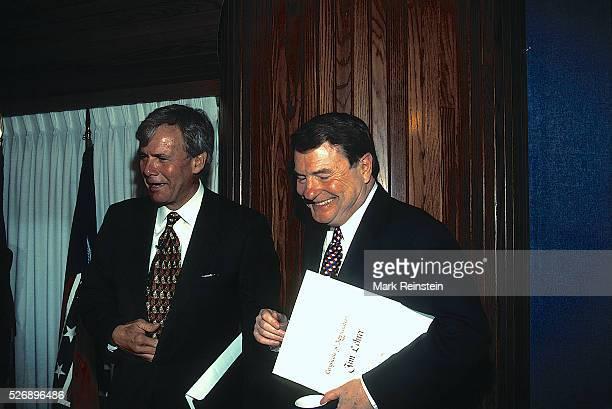 Washington DC 1996 Tom Brokaw of NBC and Jim Lehrer of PBS at the National Press Club Credit Mark Reinstein