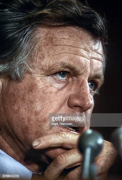 Washington DC 311984 Senator Edward Kennedy at Senate hearing He was a United States Senator from Massachusetts and a member of the Democratic Party...