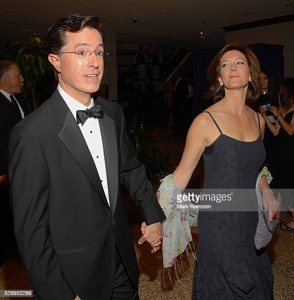 Washington DC 4292006 Stephen Colbert and his wife Evelyn McGeeColbert arrive at the annual White Correspondents Dinner at the Washington Hilton...