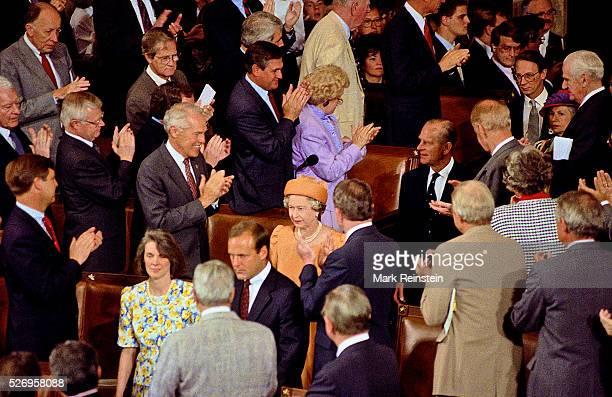 Washington DC 5161991 Queen Elizabeth addresses a joint session of Congress In the first address by a British monarch to a joint session of Congress...