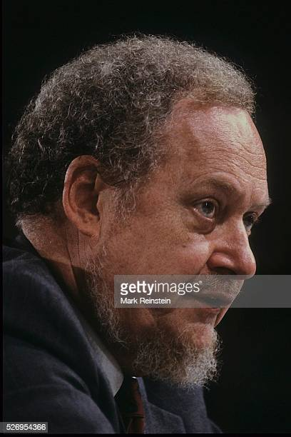 Washington DC 9201987 Judge Robert Bork testifies on the final day of his confirmation hearing in front of the Senate Judiciary Committee Credit Mark...