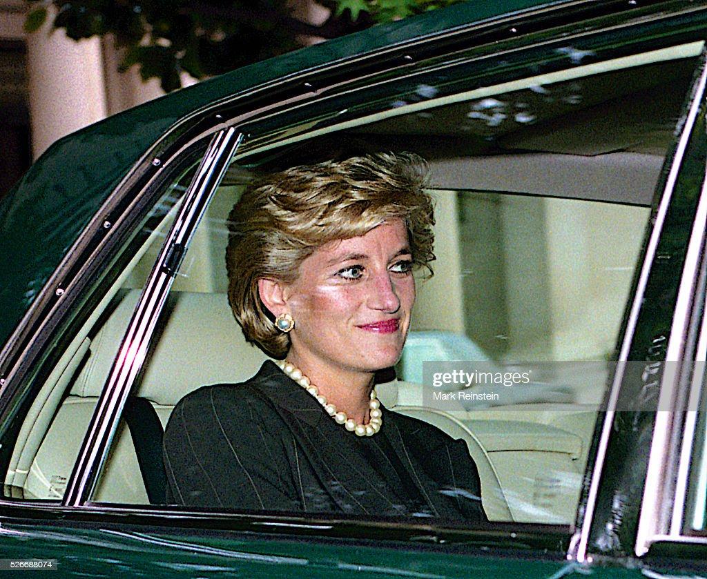 Diana, Princess of Wales Visits Washington DC. : News Photo
