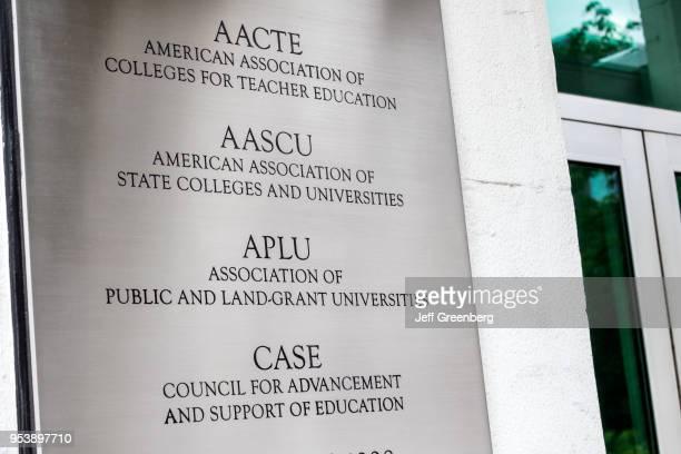Washington DC AACTE AASCU APLU CASE Association Colleges Teacher Education State Universities Public LandGrant Council Advancement Support