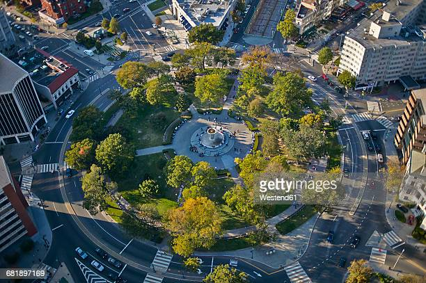 USA, Washington, D.C., Aerial photograph of Dupont Circle