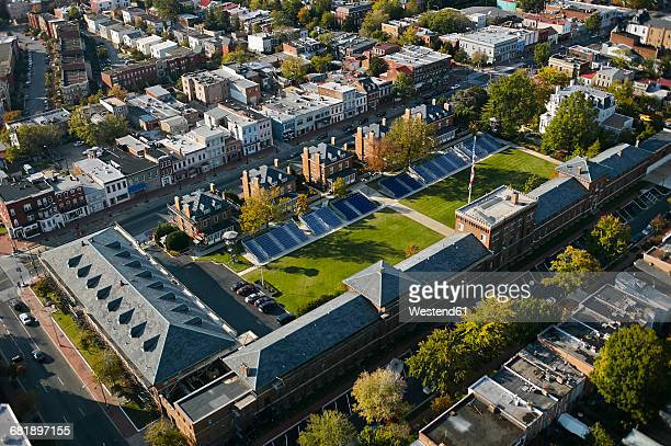 usa, washington, d.c., aerial photograph of the marine corps barracks - barracks stock pictures, royalty-free photos & images