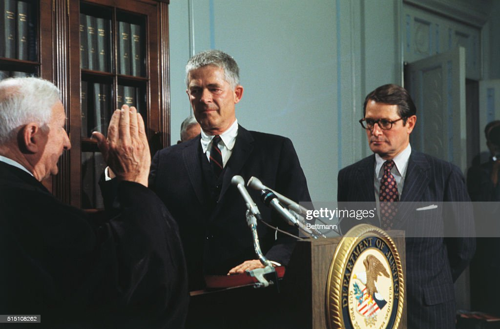 Archibald Cox Sworn in as Watergate Special Prosecutor : News Photo