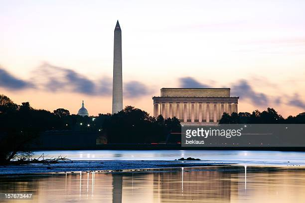 washington dc at dawn - lincoln memorial stock pictures, royalty-free photos & images