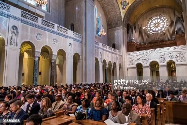 Washington DC Basilica of the National Shrine of the Immaculate Conception high school graduation ceremony