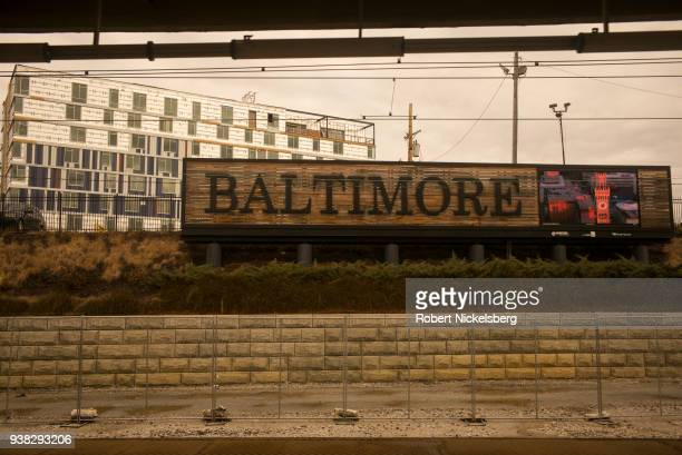 Washington DC bound Amtrak train stops at the Pennsylvania Station January 13 2018 in Baltimore Maryland Often named one of the country's most...
