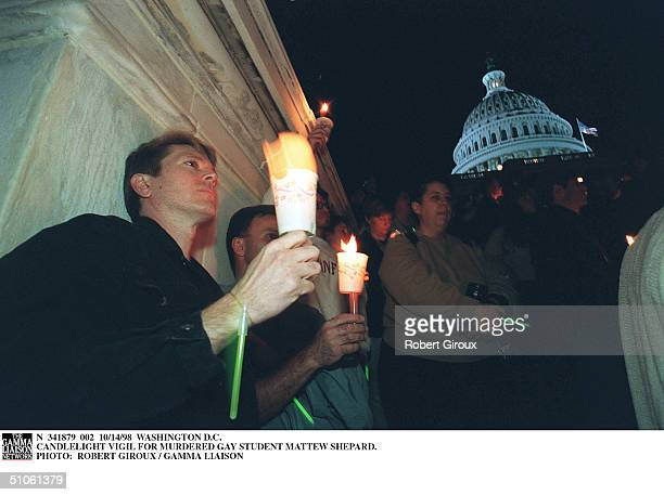 Washington DC Candlelight Vigil For Murdered Gay Student Mattew Shepard