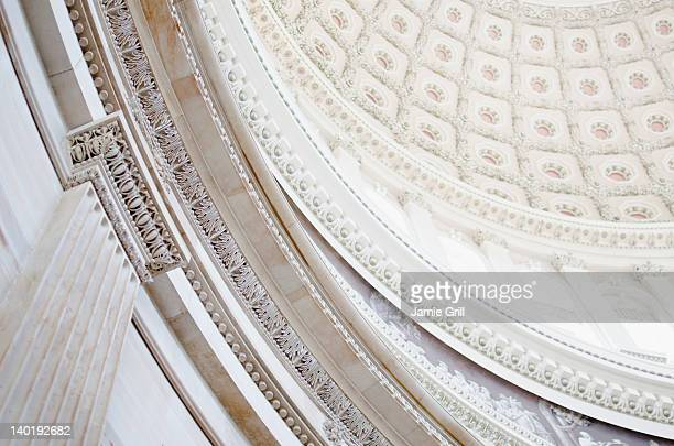 usa, washington dc, capitol building, close up of coffers on ceiling - capitol building washington dc stock pictures, royalty-free photos & images