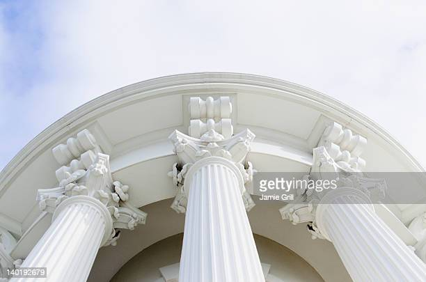 USA, Washington DC, Capitol Building, Low angle view of columns