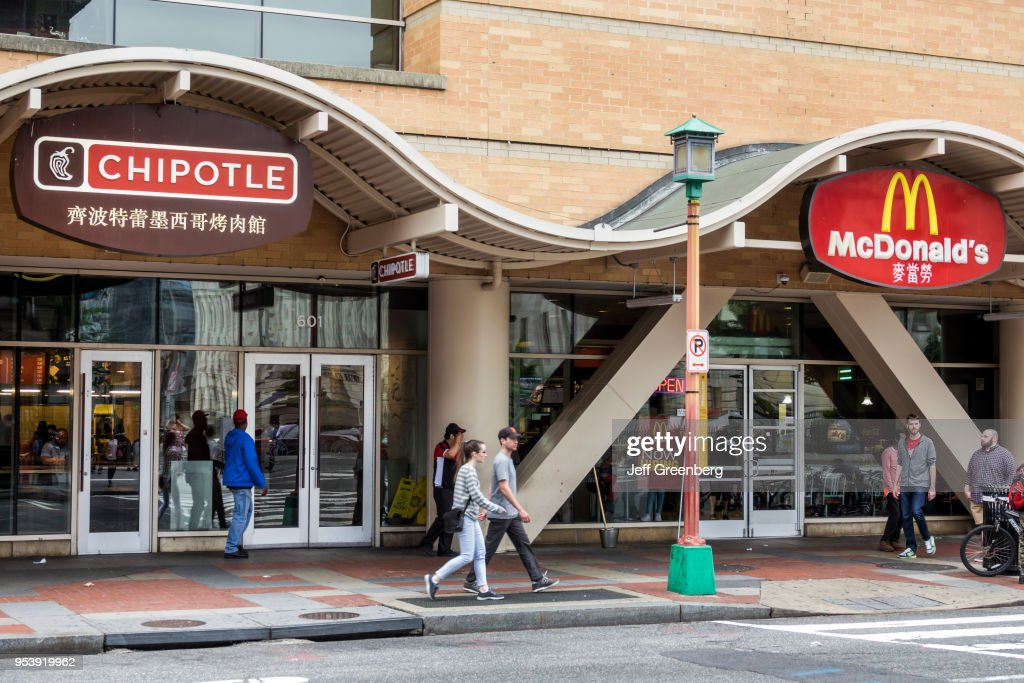 Washington Dc Chinatown Chipotle And Mcdonald S Fast Food Restaurants News Photo