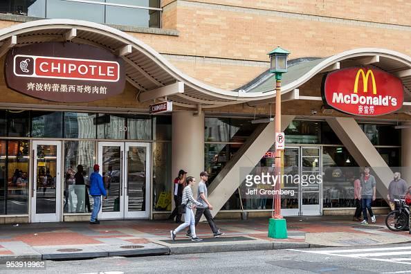 Washington Dc Chinatown Chipotle And Mcdonald S Fast Food
