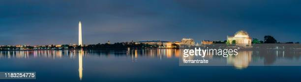 washington dc cityscapes thomas jefferson memorial - washington dc stock pictures, royalty-free photos & images