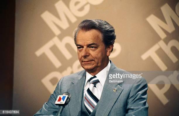 Close up of Senator Robert Byrd during TV talk show