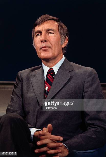 Close Up of United States Representative Morris Udall as he appeared on the television program Issues Answers