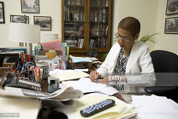 COURONNE Washington DC Congressional Democratic Delegate Eleanor Holmes Norton speaks about the 1963 March on Washington for civil rights and racial...