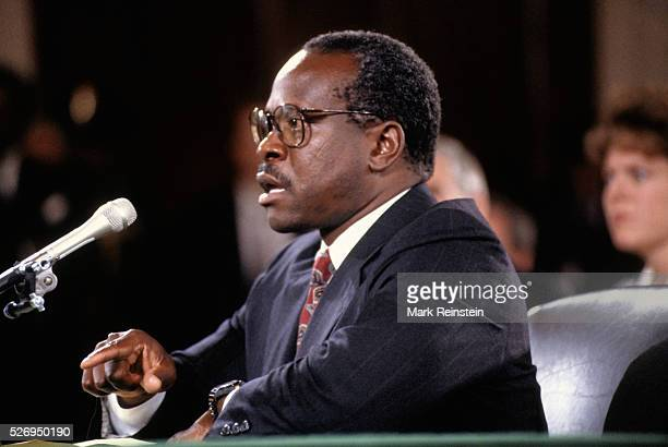 Washington, DC. Credit: Mark Reinstein Washington DC. 9-10-1991 Clarence Thomas nominee for Associate Justice of the United States Supreme Court...