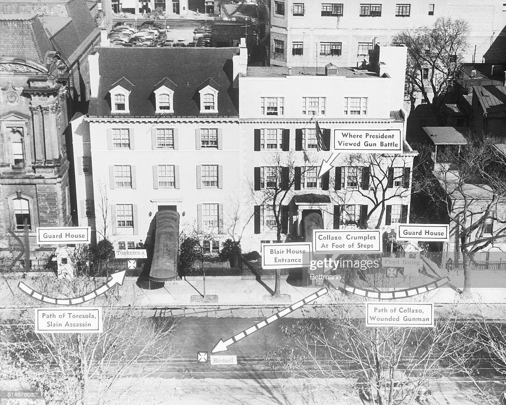 11/2/1950- Washington, DC- Diagram view of the Blair House