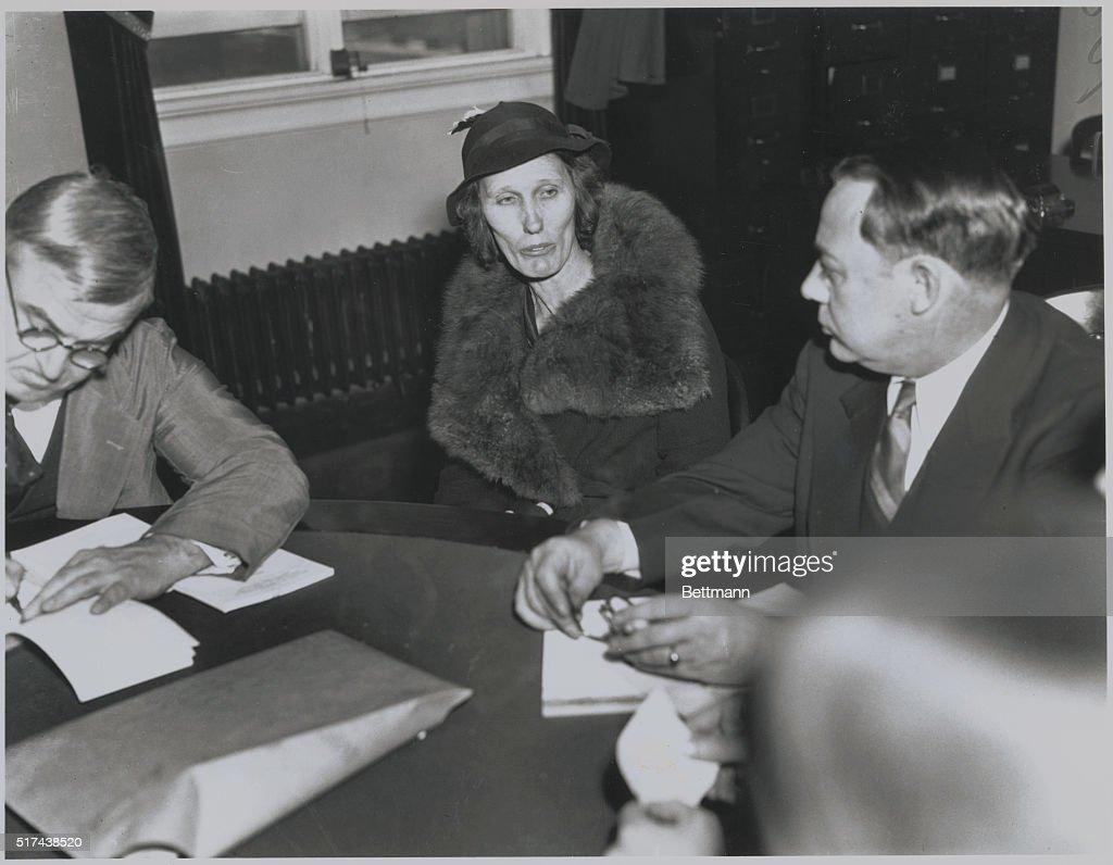 Mrs. Charles Jones Testifying : News Photo