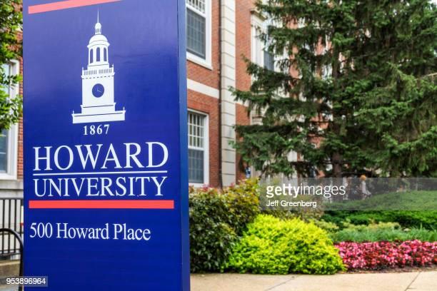 Washington DC Howard University campus sign