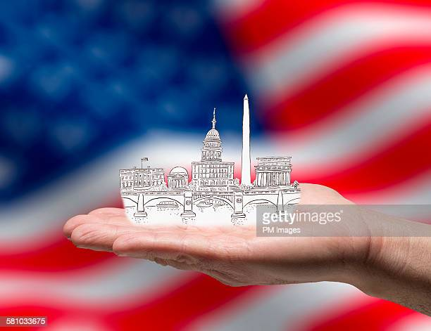 Washington D.C. in hand