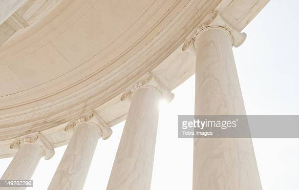 usa, washington dc, jefferson memorial, close up of columns - column stock pictures, royalty-free photos & images