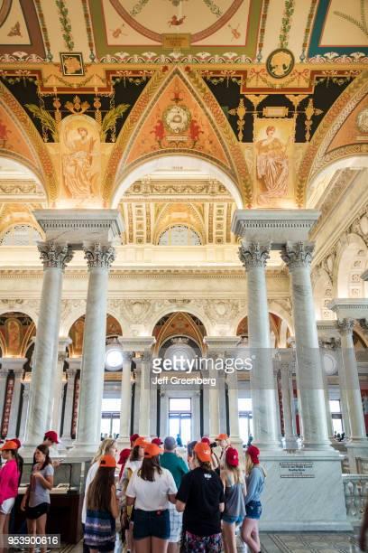 Washington DC, Library of Congress, Thomas Jefferson Memorial Building, Great Hall interior.