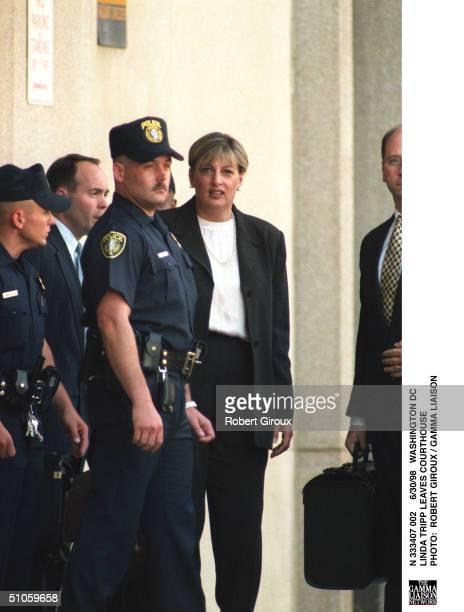 Washington Dc Linda Tripp Leaves Courthouse