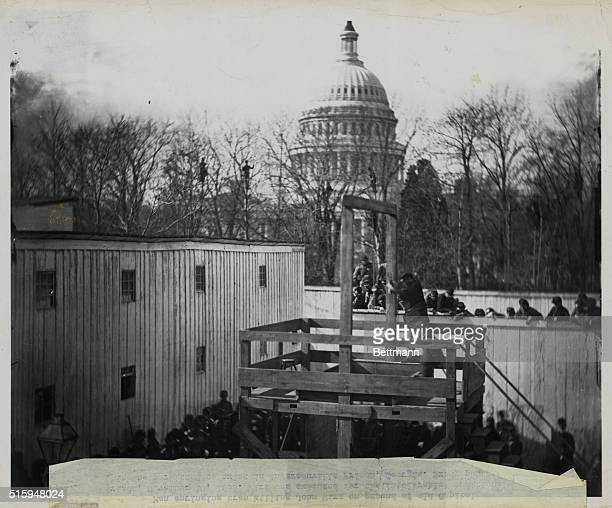 11/10/1865 Washington DC Man springing trap killing John Wirz on grounds of Old Capitol Prison Nov 10 1865 Wirz was executed for the intolerable...