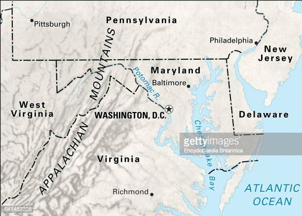 Washington Dc Map Stock Photos and Pictures | Getty Images