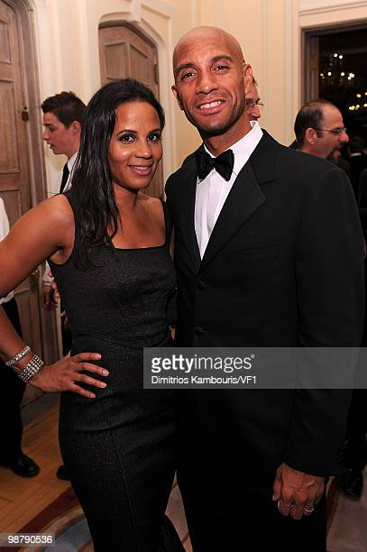 Washington DC Mayor Adrian M Fenty and Michelle Fenty attend the Bloomberg/Vanity Fair party following the 2010 White House Correspondents'...
