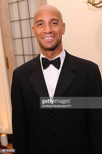 Washington DC Mayor Adrian M Fenty attends the Bloomberg/Vanity Fair party following the 2010 White House Correspondents' Association Dinner at the...