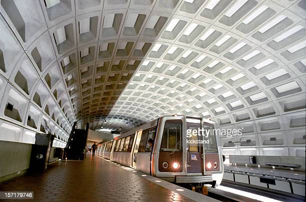 washington, dc metro - underground stock photos and pictures