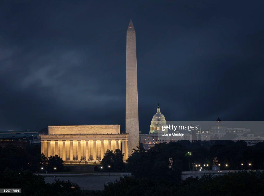 Washington DC Monuments : Stock Photo